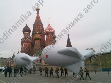 Military blimp's copies for parade