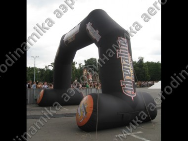 """Adrenaline"" sport show decoration with inflatable stable arch"