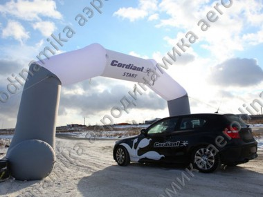 Cordiant Club Road Show inflatable arch