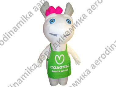 """Белая дача"" character inflatable Ad costume"