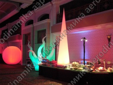 Inflatables with inner backlight as decorations