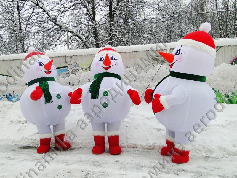 Как сделать снеговика своими руками большого