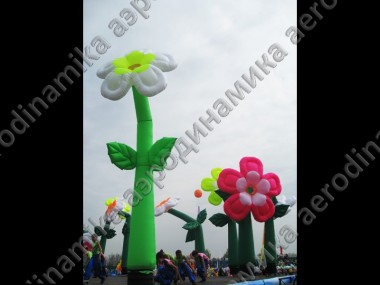 Inflatable dancing flowers