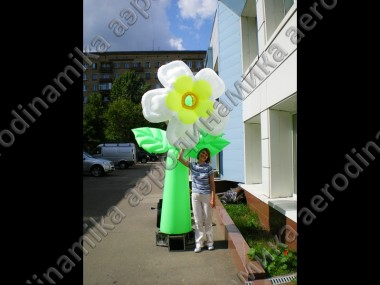 Inflatable dancing flower