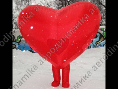 Heart shaped inflatable costume