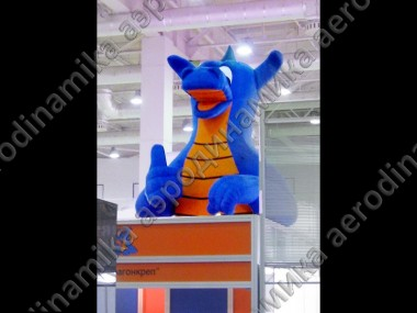 """DragonKrep"" inflatable logo as an exhibition stand decoration"