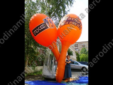 Axe promo event inflatable Ad. Maracas