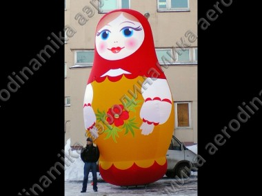 6 meters high inflatable matryoshka