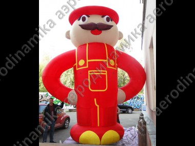 6 meters high inflatable farmer
