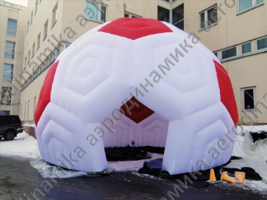 Soccer ball styled inflatable dome for KIA promo event