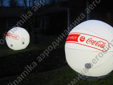 """Coca-cola"" inflatable spheres with inner backlight"