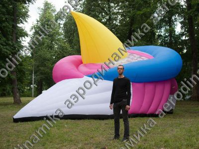 Custom shaped inflatable tent as an art object