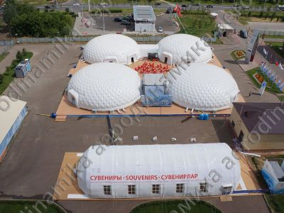 Inflatable domes complex for Kazan Universiade 2013