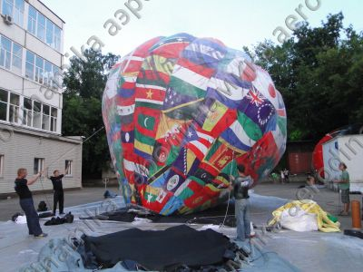 "Universiade 2013 closing ceremony decoration. ""Hot air balloon"" with helium"