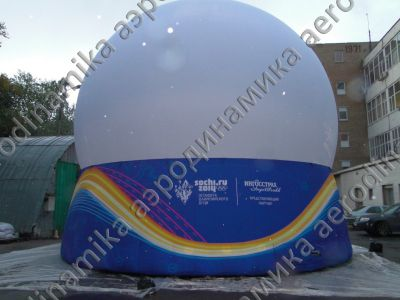 Olimpic fire relay race inflatable mediasphere screen