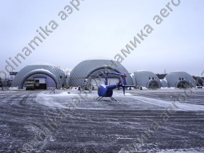 Heliport inflatable domes complex