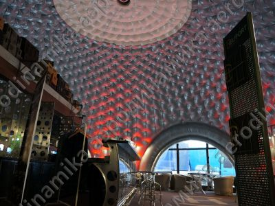 Heliport inflatable dome interior