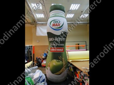 """Bio-Max"" yoghurt bottle inflatable copy"