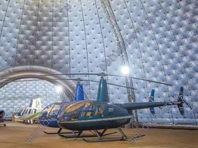 Helicopter parking – 30 meters diameter inflatable dome.