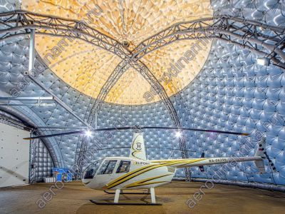 Inflatable dome as Heliport repair area
