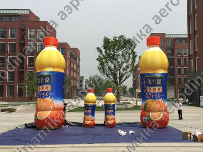 Juice bottles inflatable copies