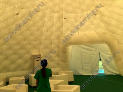 Inflatable dome interior