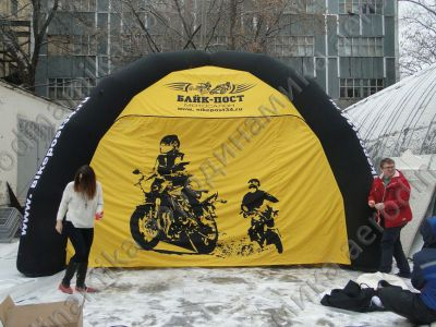 Ad inflatable tent