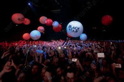 Inflatable interactive promo balls at Timati's concert