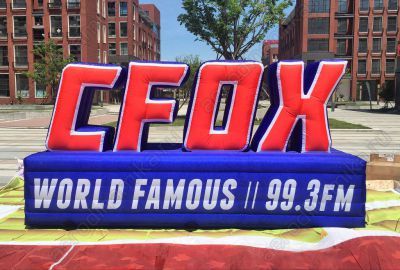 CFOX radio Inflatable Ad wall