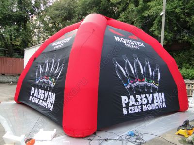 Monster Ad energy inflatable tent