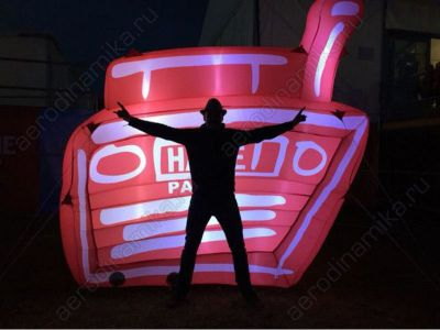"""Наше радио"" Ad inflatable with inner backlight"