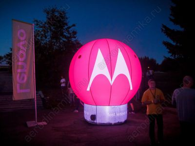 Inflatable structure with inner backlight