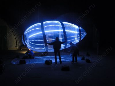 Helium blimp with inner backlight