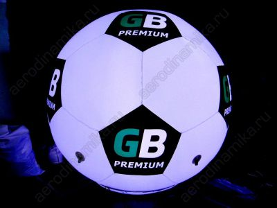 Inflatable soccer ball with inner backlight