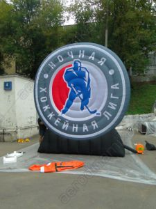 Night Hockey League inflatable logo