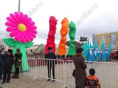Street air-fountains in Kazakhstan