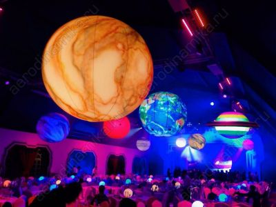 Inflatable hanged planets