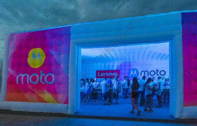 Lenovo Moto Ad inflatable cube tent
