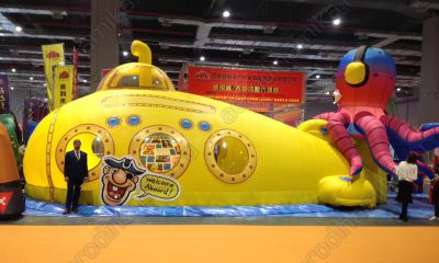 Air supported structure shaped as Yellow Submarine