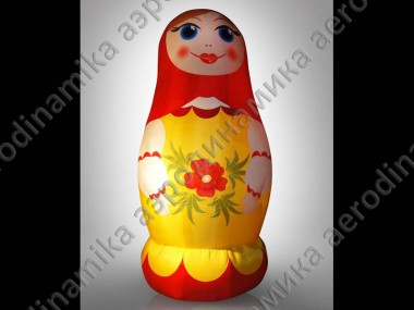 Inflatable costume of matryoshka