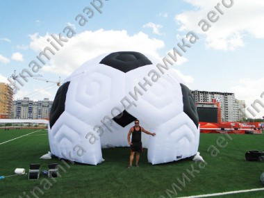 Soccer ball styled inflatable domes for FIFA presentation