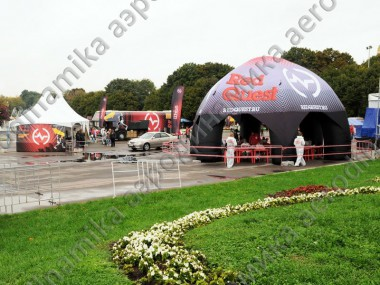 Red Quest promo inflatable tent