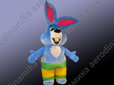Fur inflatable costume of hare