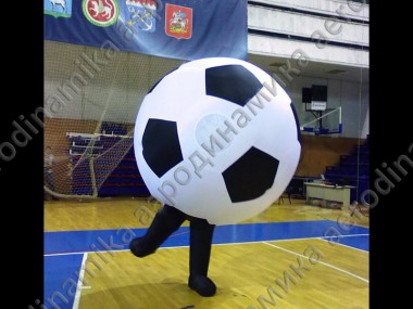 Inflatable soccer ball costume