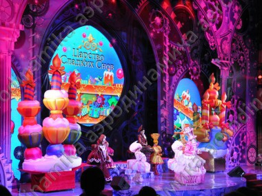 """Sweets"" inflatable stage decorations"