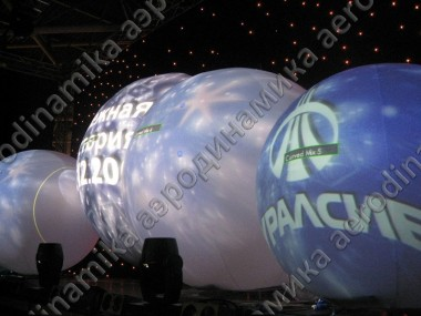 Large inflatable spheres as a projection screens