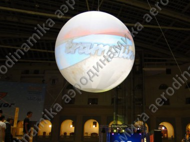 "Inflatable ""Sphere screen"" Ad for exhibition"