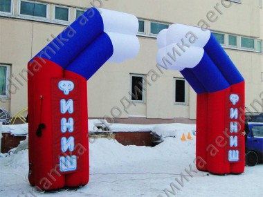 Finish 4-based inflatable arch