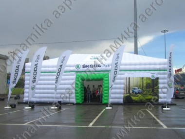 Škoda inflatable cube tent 15×8 meters