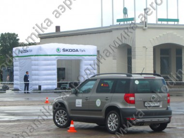 Škoda promo inflatable cube tent